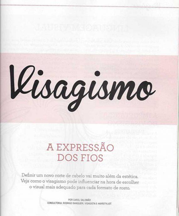 Revista cabelos e looks matéria de Visagismo